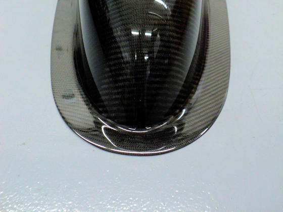 Carbon Fiber Dragster Nose - Front View