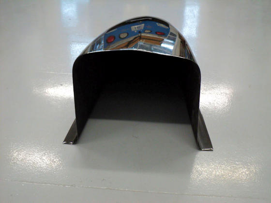 Carbon Fiber Dragster Nose - Rear View