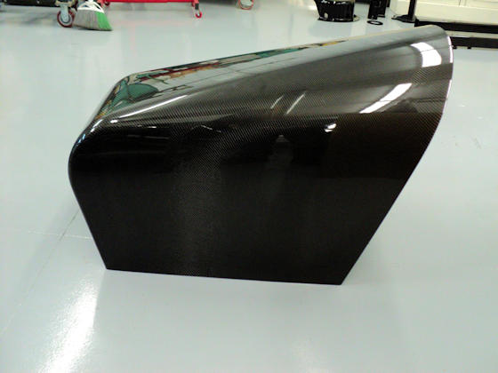 Carbon Fiber Seat - Side View