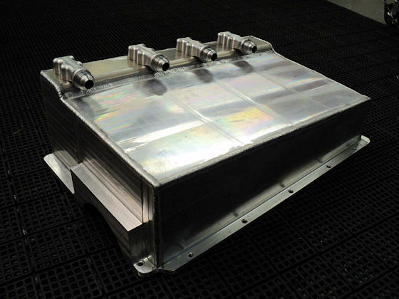 Fabricated Dry Sump Oil Pan - Left Side View