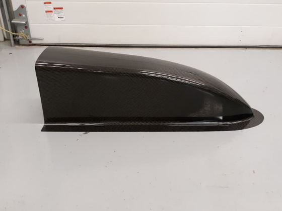 Carbon Fiber Dragster Nose - Top View