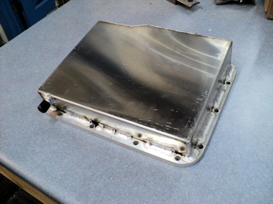 Fabricated Aluminum Powerglide Pan - Top View