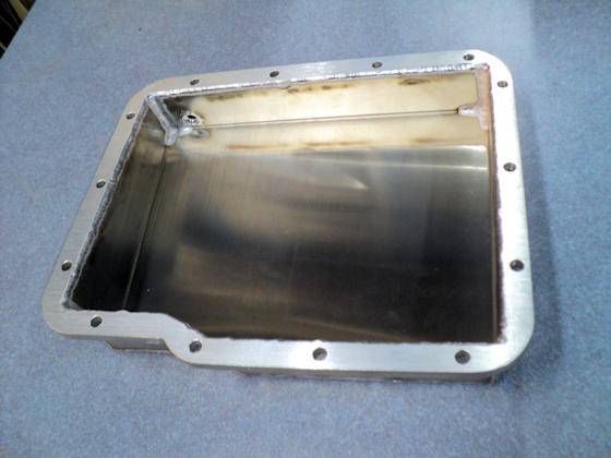Fabricated Aluminum Powerglide Pan - Interior View
