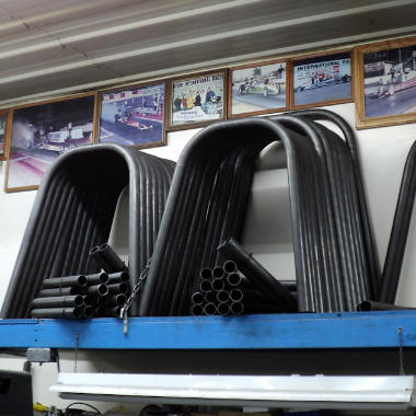 Roll bar bends for dragsters.
