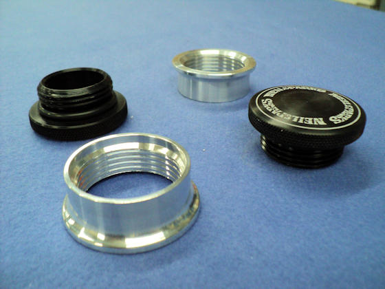 small Filler Cap with aluminum or steel bung