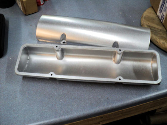 Small Block Chevy Valve Covers -  Bottom View