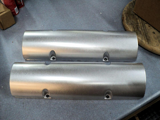 Small Block Chevy Valve Covers - Top View